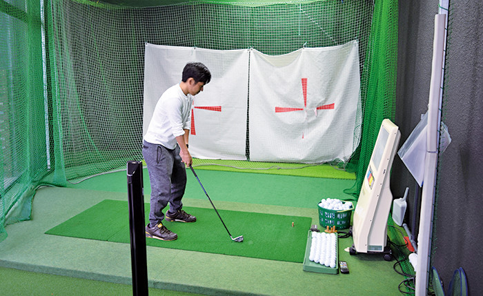 GROW GOLF ACADEMYの店内